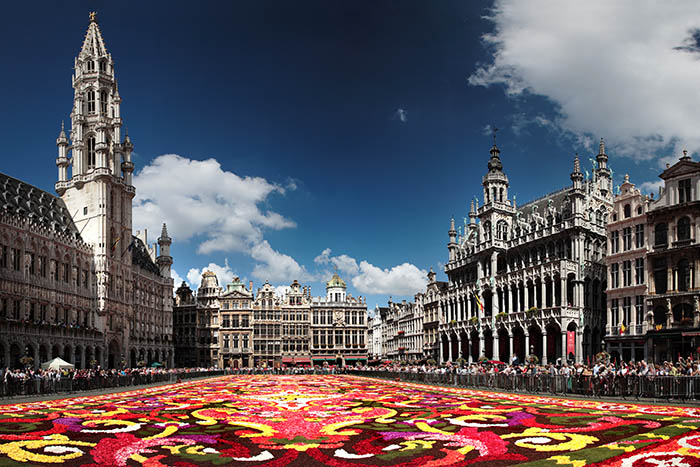 Flower display at Brussels Grand Place