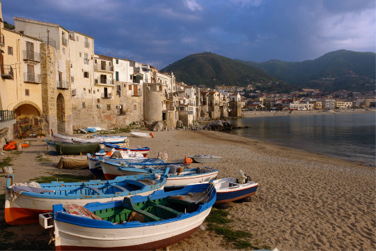 Cefalu Urban beach in