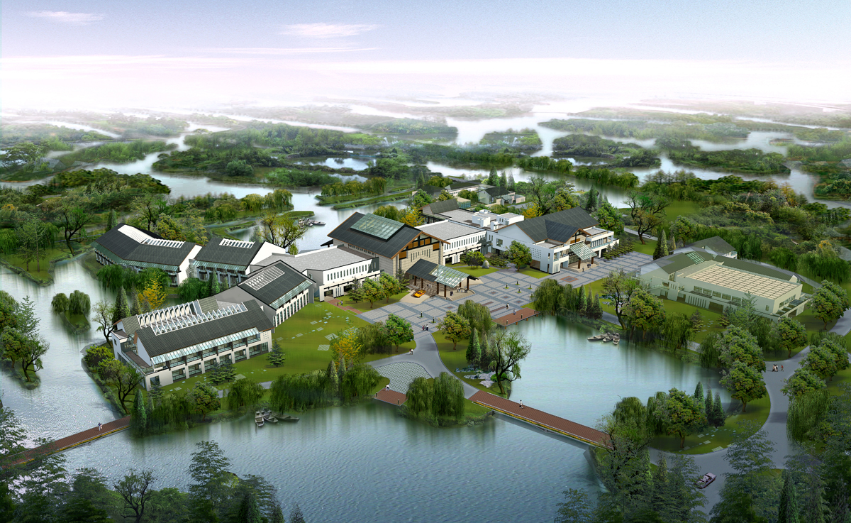 Wyndham-Hangzhou-Xixi-Resort_Hangzhou-China_Airscape-Rendering