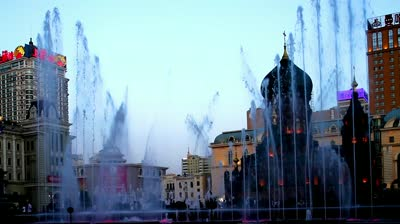 stock-footage-the-fountain-show-at-sophia-square-in-harbin-china